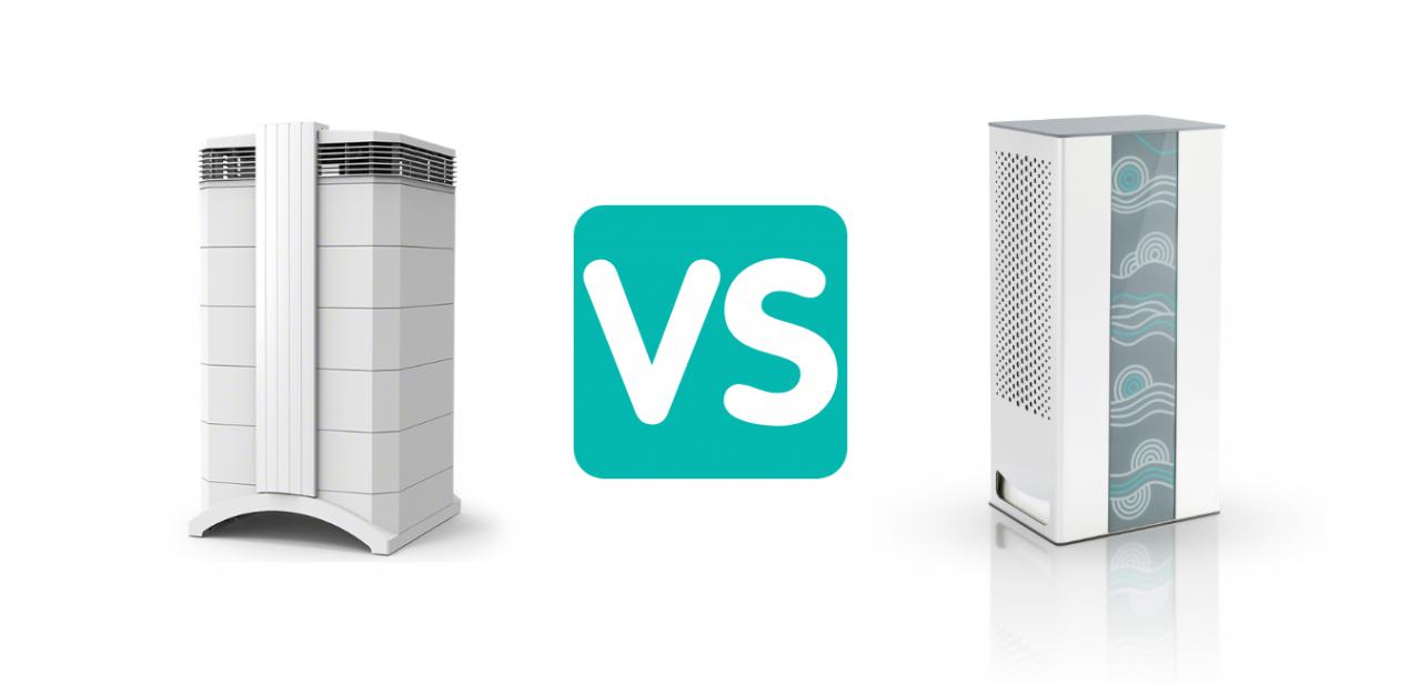 مقایسه دستگاه تصفیه هوای iqair با نوجان n300